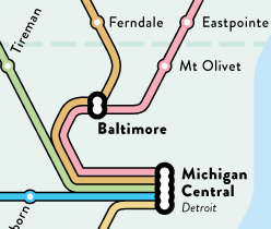 Regional Rail Map snippet